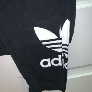 adidas logo black athletic leggings